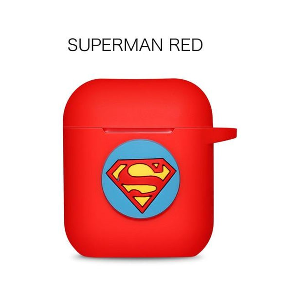 AirPods Case: Marvel Silicone Superman Red - AirPodsCases.co.uk