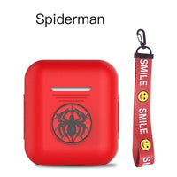 AirPods Case: Marvel Silicone Spiderman Rope - AirPodsCases.co.uk