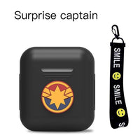 AirPods Case: Marvel Silicone Captain Marvel Rope - AirPodsCases.co.uk