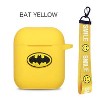 AirPods Case: Marvel Silicone Bat Yellow Rope - AirPodsCases.co.uk