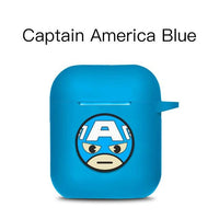 AirPods Case: Marvel Silicone Captain Blue - AirPodsCases.co.uk