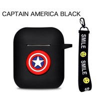 AirPods Case: Marvel Silicone Captain America Rope - AirPodsCases.co.uk
