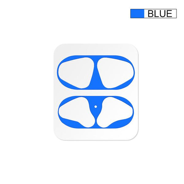 AirPods: Dust Guard Sticker Blue - AirPodsCases.co.uk