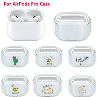 AirPods Pro Case: Cartoon Clear - AirPodsCases.co.uk