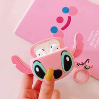 AirPods Pro Case: Cartoon Silicone Pink Stitch - AirPodsCases.co.uk