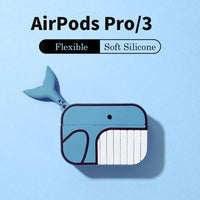 AirPods Pro Case: Cartoon Silicone Whale - AirPodsCases.co.uk