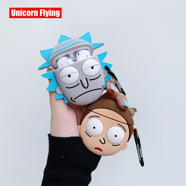 AirPods Case: Rick & Morty Silicone Rick + Morty - AirPodsCases.co.uk