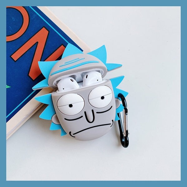 AirPods Case: Rick & Morty Silicone Rick - AirPodsCases.co.uk