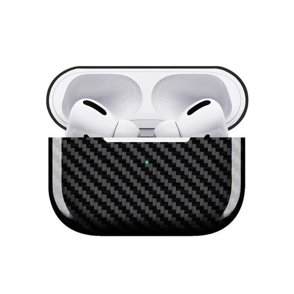AirPods Pro Case: Real Carbon Fibre Glossy Black - AirPodsCases.co.uk