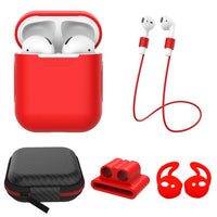 AirPods: 5 in 1 Set Red - AirPodsCases.co.uk
