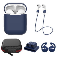 AirPods: 5 in 1 Set Blue - AirPodsCases.co.uk