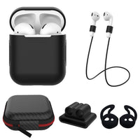 AirPods: 5 in 1 Set Black - AirPodsCases.co.uk