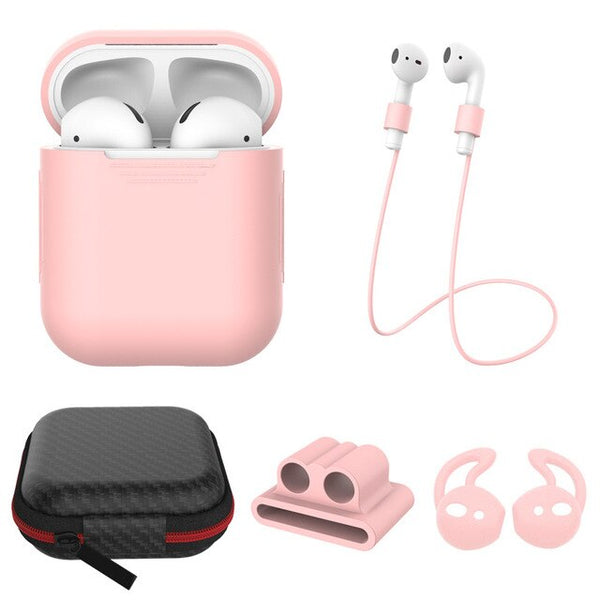 AirPods: 5 in 1 Set Baby Pink - AirPodsCases.co.uk