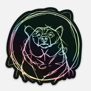 Holographic Bear Face Sticker