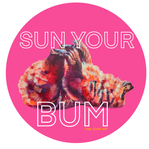 """Sun Your Bum"" Vinyl Sticker"