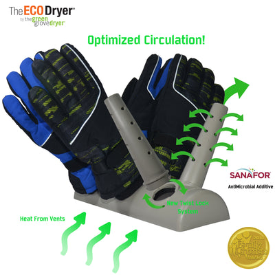 The Eco Dryer Floor Model Drys Boots, Hats, Gloves, Mittens, Shoes and More