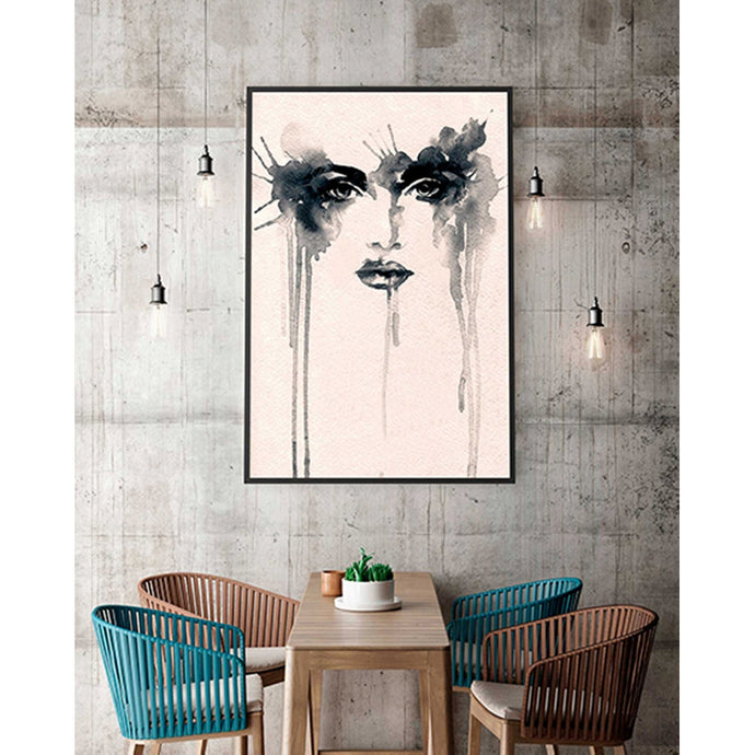 Quadro Decorativo Estilo Vogue com Moldura