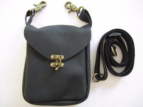 Black Pouch with Latch