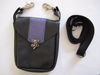 Black Pouch with Purple Stripe