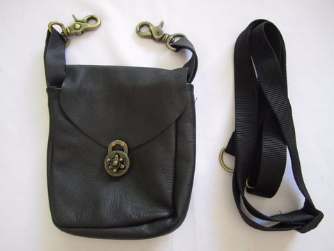 Black Pouch with Twist Clasp