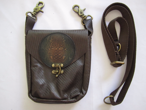 Brown Pouch with Owl