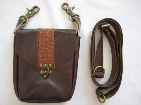 Brown Stripe Pouch