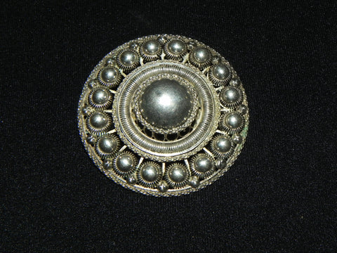 Estate Sterling Pin, Vintage Etruscan Revival