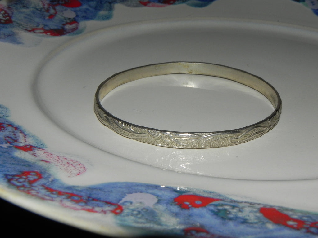 Estate Sterling Bracelet, Mexican Vintage Bangle