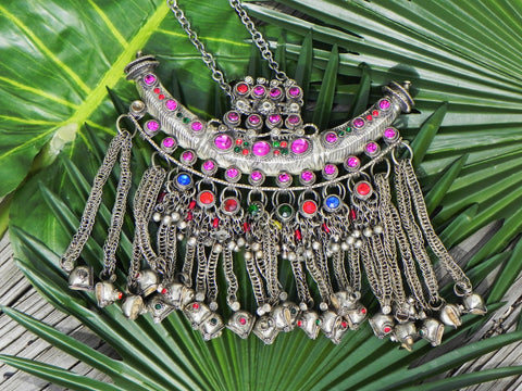 Middle Eastern Necklace, Tribal Vintage Kuchi