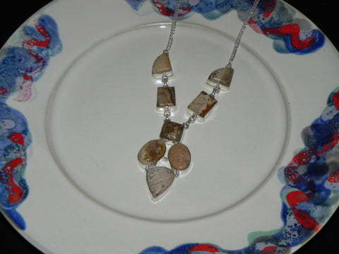 Stone + Sterling Necklace Picture Jasper