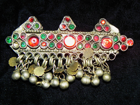 Middle Eastern Hair Clip, Beautiful Kuchi with Metal Dangles