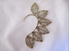 Cutout Leaf Ear Cuff  - Brass