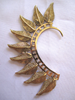 Mohawk Feather Ear Cuff  - Brass