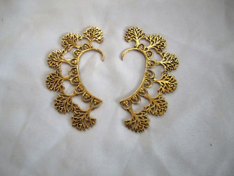 Tree of Life Ear Cuff - Gold
