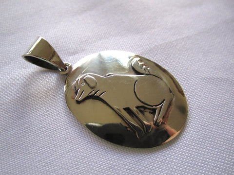 Handmade Oval Dog Pendant