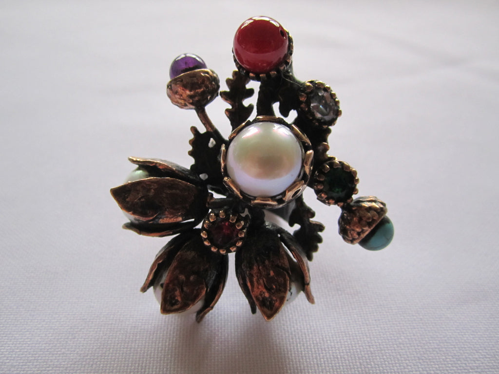 Turkish Ring, Multi stone Statement Ring