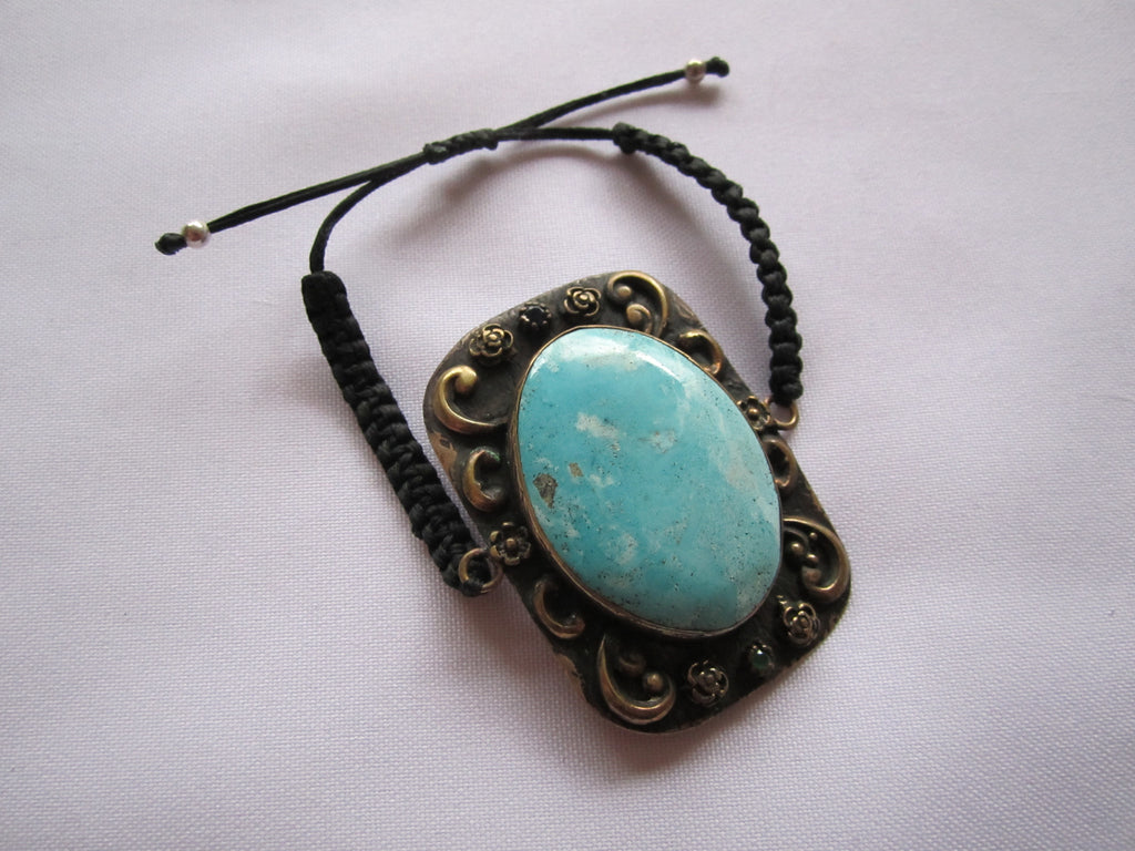 Turkish Bracelet, Turquoise Stone Adjustable Band Bracelet