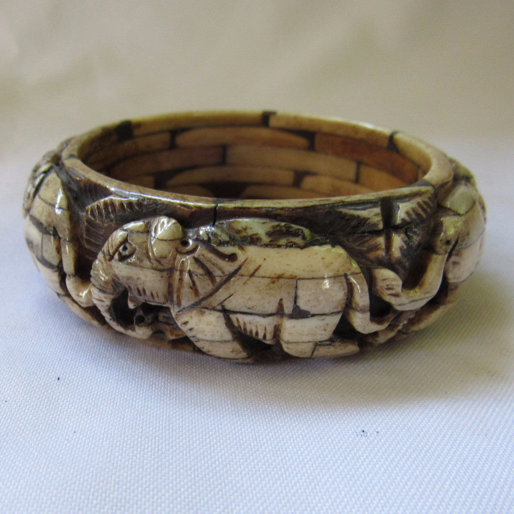 Nepal Hand carved Bone Bracelet