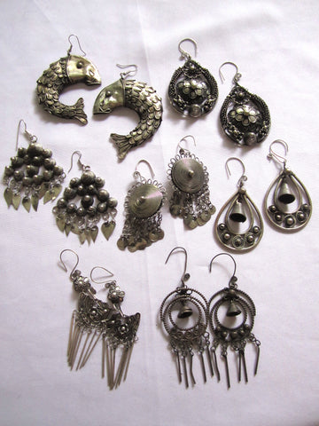 Earrings Miao Handmade Tribal