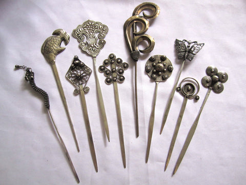 Hair Pins Miao - Dragon, Swirl , Bird, Fish, Butterfly