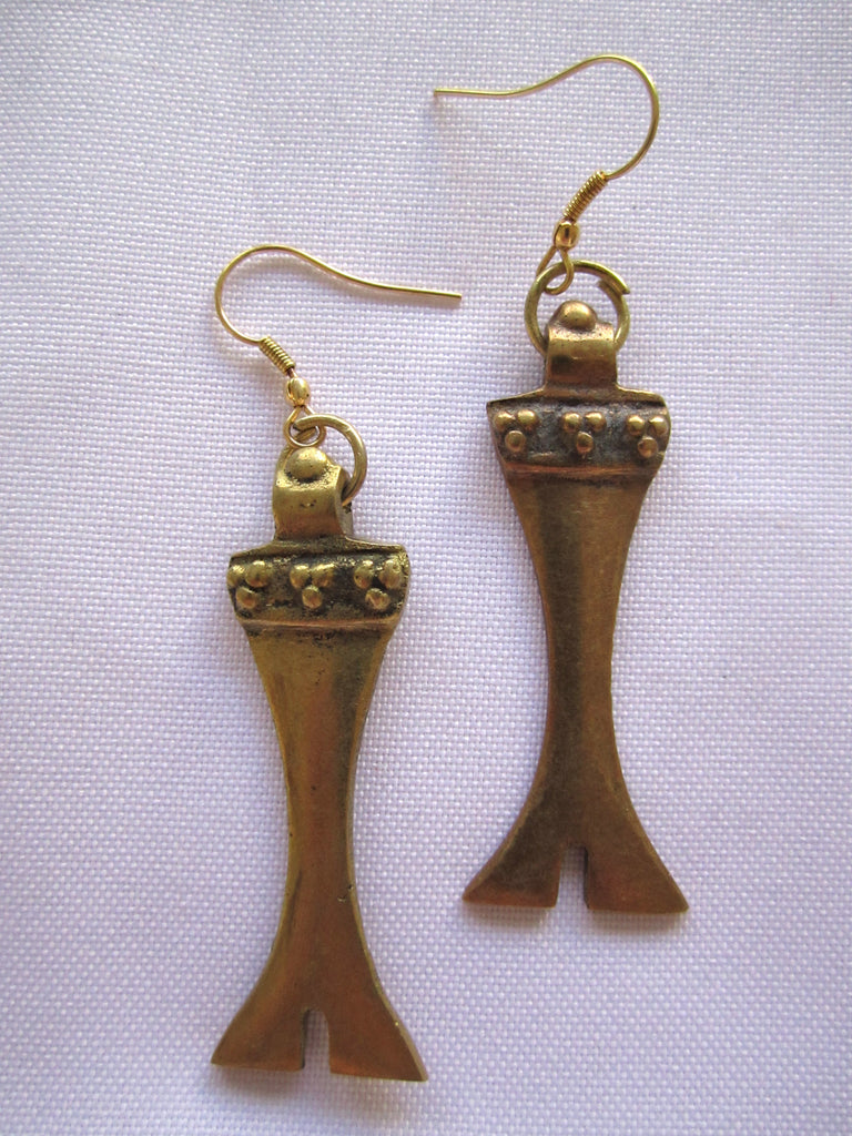 "Naga India Earrings "" Tribal"""
