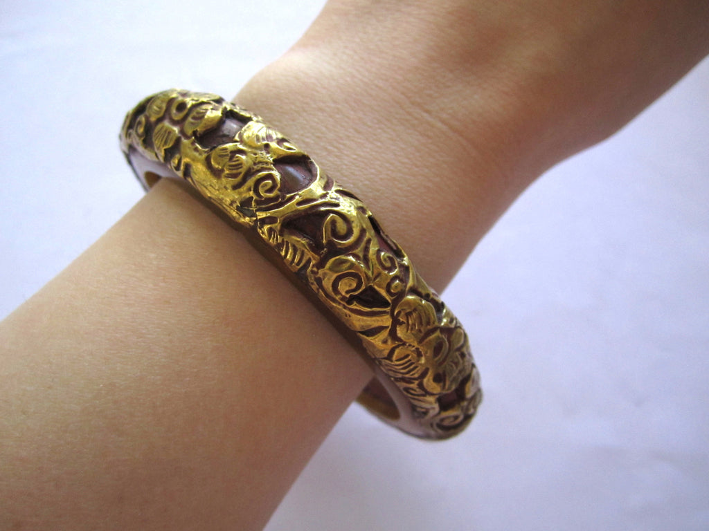 Tibetan bracelet, Handmade Tribal Bangle