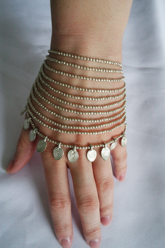 Naga India Bracelet Elegant Tribal Body Jewelry Bracelet Brass or Silver