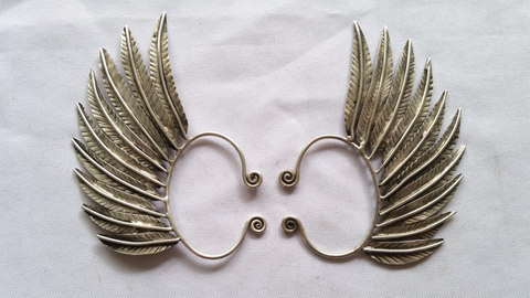 Silver Pair - Miao Feather Wing