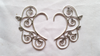 Scroll Leaf Ear Cuff - Silver