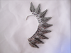 Mohawk Feather Ear Cuff - Silver