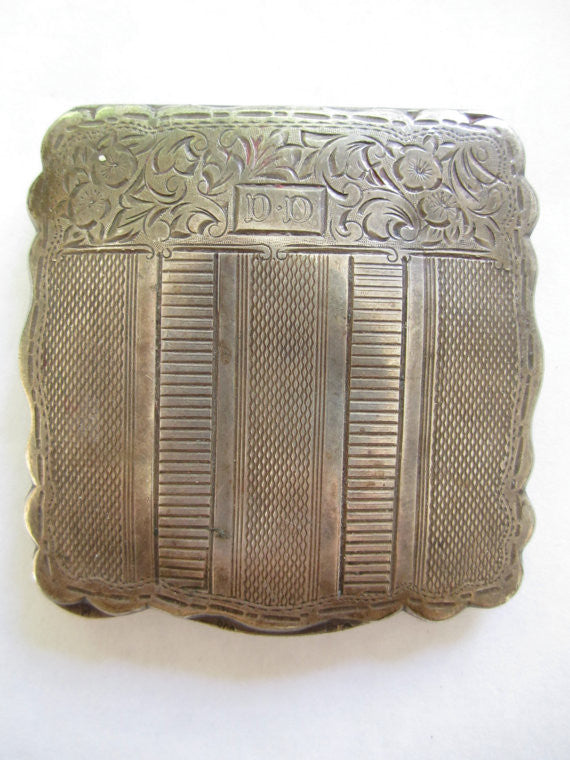 Estate Sterling Compact, Vintage Art Deco