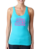 Women's Fitted Tank Top Retro Print