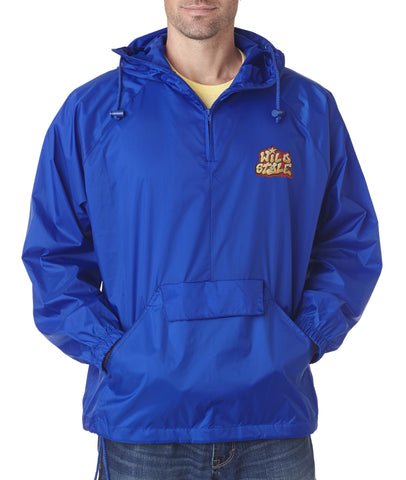 Windbreaker - Nylon Packable Jacket w/ Hood