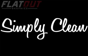 Simply Clean - Windshield Decal